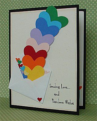 DTGD12Ardyth sending Love by donidoodle - Cards and Paper Crafts at Splitcoaststampers. Great card to use up scraps.