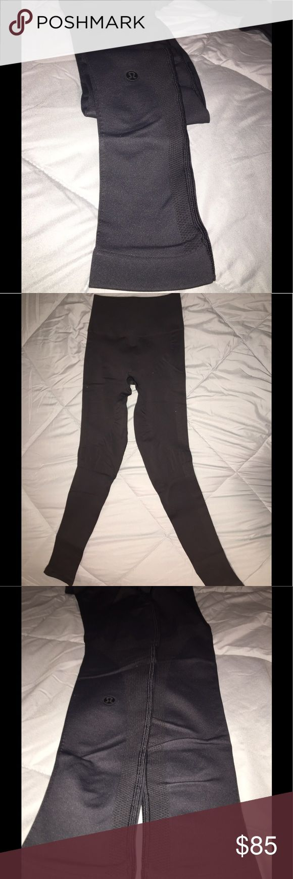 Lululemon Leggings - NEVER WORN! extra hold fit Never worn - from last year, size 2. Tight charcoal leggings, extra support and hold lululemon athletica Pants Leggings