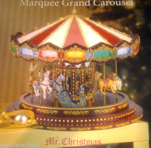 Mr Christmas Grand Marquee Musical Carousel LED Lights