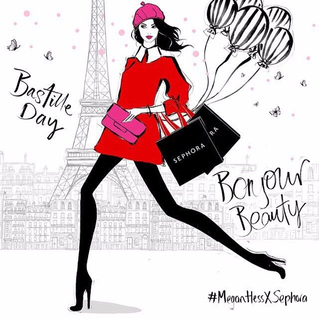 Release your 'Inner French'.... It's Bastile Day! Head to Sephora to for all the Parisian festivities! #MeganHessXSephora @sephoraaus