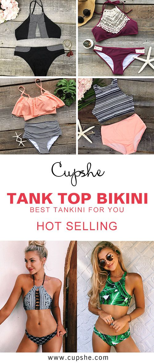 Soft and comfy tankini, Hot Sale Now! Free shipping & Easy Return + Refund! It has fashion tank top and low rise bottom for support. Besides, soft and lightweight item is always the first choice. Pick more up for warm spring break at Cupshe.com