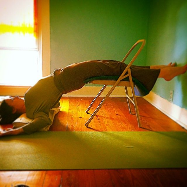 99 best images about Iyengar Yoga Chair Back Bends on ...