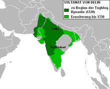 Delhi Sultanate - Delhi Sultanate from 1321-1330 AD under Tughluq dynasty. After 1330, various regions rebelled against the Sultanate and the kingdom shrunk / The Delhi Sultanate was a Delhi-based Muslim kingdom that stretched over large parts of India for 320 years (1206–1526).[6][7] Five dynasties ruled over Delhi Sultanate sequentially, the first four of which were of Turkic origin and the last was the Afghan Lodi. The Lodi dynasty was replaced by the Mughal dynasty. The five dynasties…
