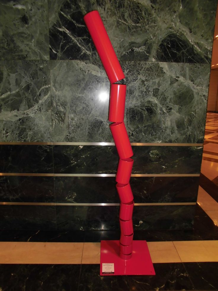 """""""Stacked"""" Steel Powdercoated 200 cm x base 46cm. Maurice Schlesinger, sculptor"""