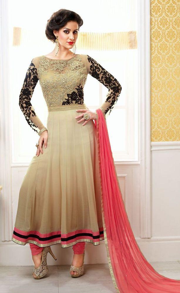 Indian Designer Anarkali Party Bollywood Pakistani Wedding Suit Salwar Kameez…