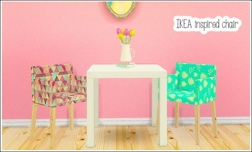 Ohbehave's IKEA Inspired chair at Lina Cherie via Sims 4 Updates