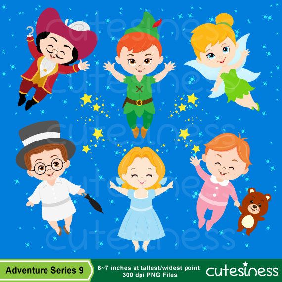 Neverland Digital Clipart Peter Pan Clipart by Cutesiness on Etsy, $6.00