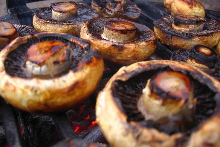 Grilled Mushrooms. Mmmm!