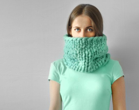 Piccolo Punto Infinite Scarf Cowl Snood Chunky By Ohhio