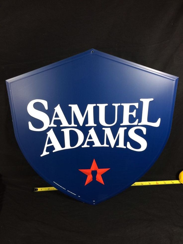 #SamuelAdams #Boston #Lager #Beer #Tin #Sign #Tacker #shield #bar #mancave #garage #pub #SamAdams