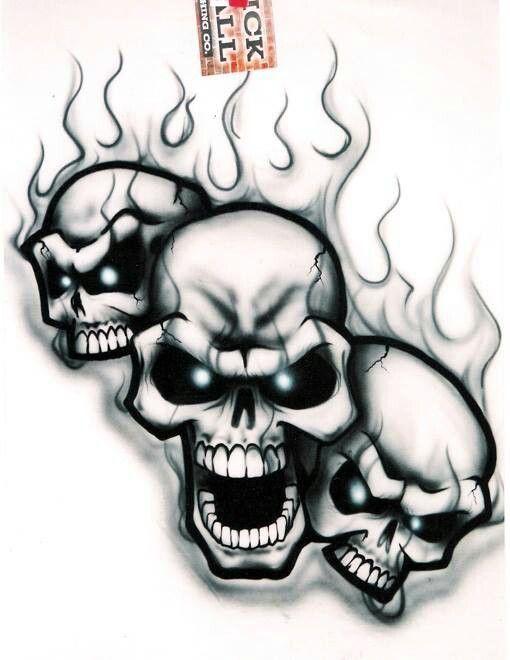 Skulls skulls pinterest tattoo drawings and graffiti for Stencil stuff tattoo