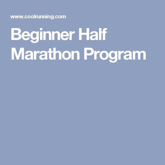 Beginner Half Marathon Program