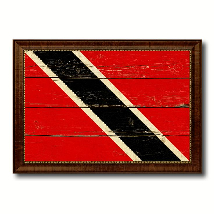 Trinidad & Tobago Country Flag Vintage Canvas Print with Brown Picture Frame Home Decor Gifts Wall Art Decoration Artwork