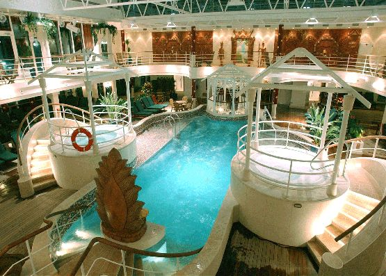 Crown Pools Inc: The Lotus Spa Pools On The Coral Princess. This Space Was