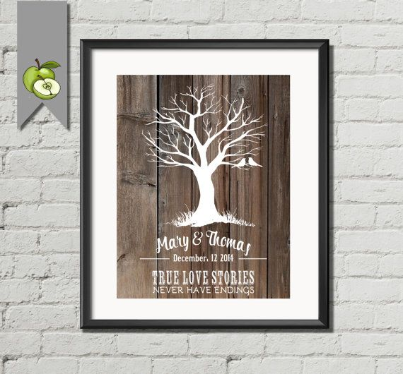 christmas gift last minute Wedding ANNIVERSARY by TheArtyApples