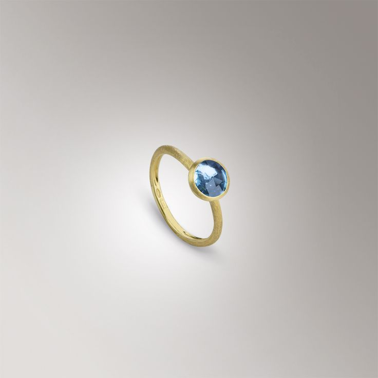 Classic round ring, set in 18k yellow gold with a bezel set gemstone. Available in citrine, amethyst, blue topaz, and green tourmaline, $505 #ReamWishList