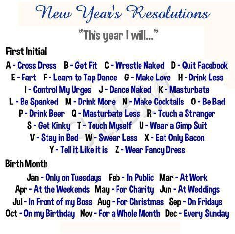 humorous new year quote | ... Status: Determine your New Year's resolution funny facebook quote