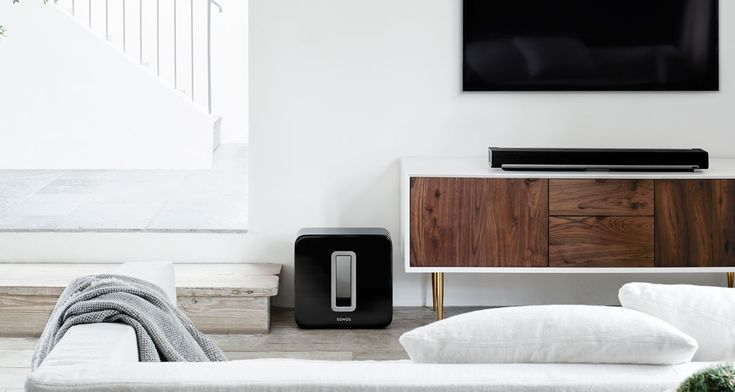 Try the Sonos PLAYBAR and SUB together for a jaw-dropping wireless 3.1 home theater speaker setup.