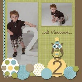 Scrapbook layout simple  @J O Ray for when Ry is 2!