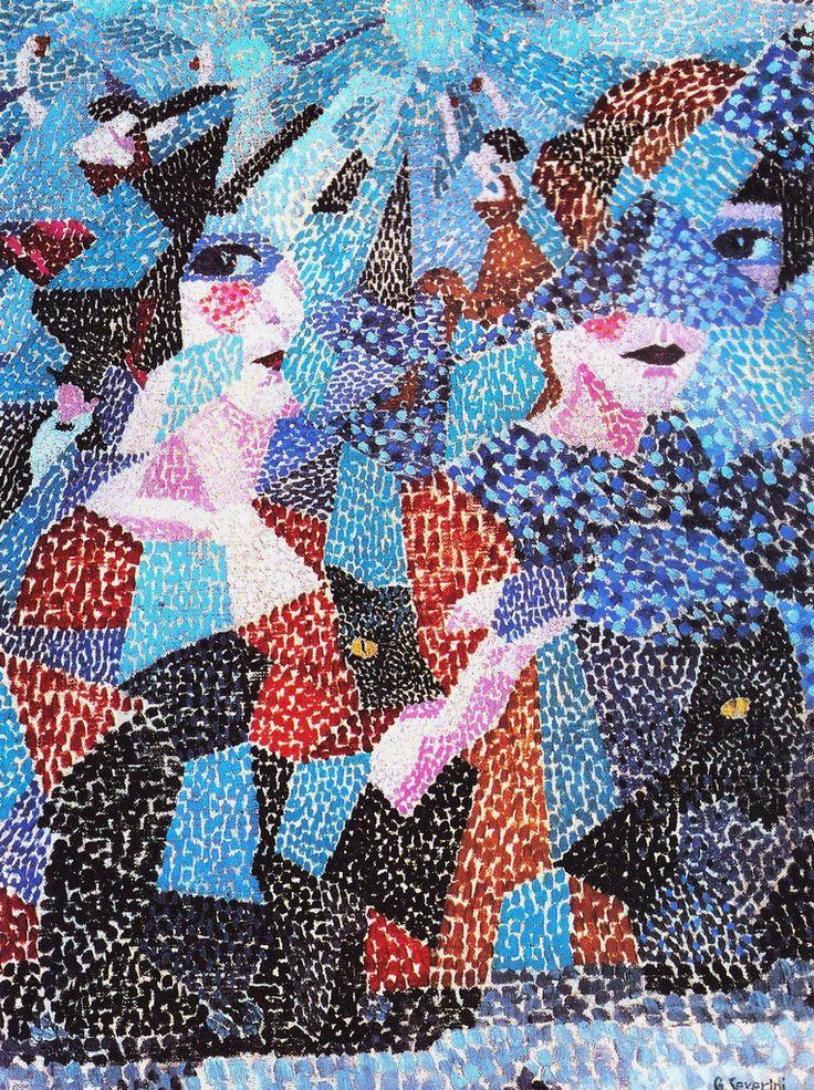 La danseuse obesedante, 1911 by Gino Severini
