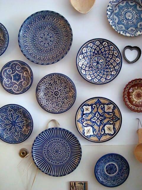 Colorful plates - middle eastern design