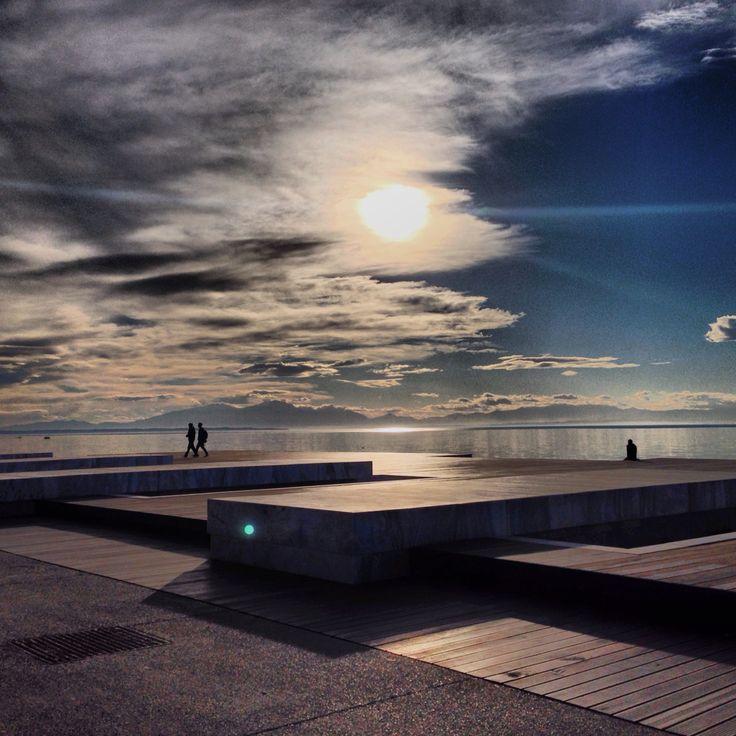 "Thessaloniki ""Nea paralia"", walking by the sea."