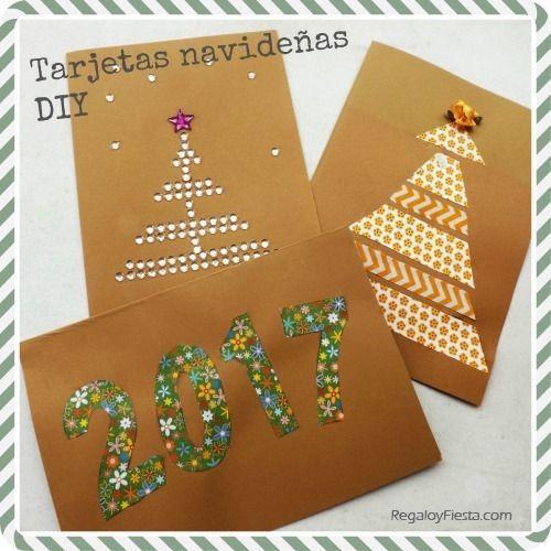 Nuevas tarjetas navidenas para hacer en casa 1 tarjetas - Postales navidenas para hacer ...
