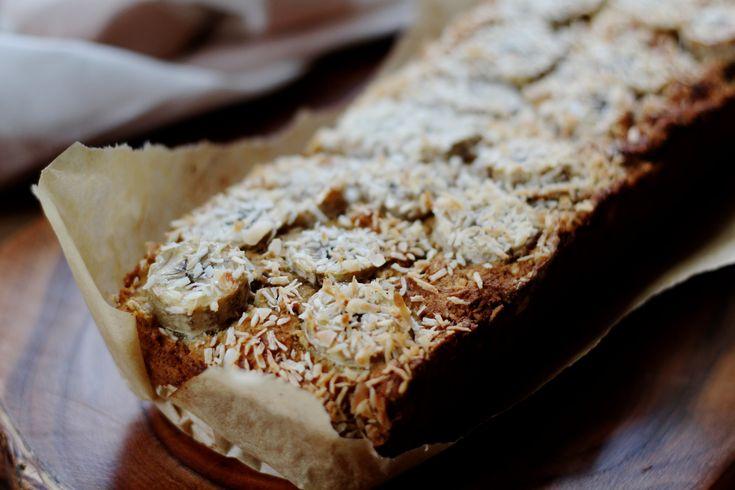 Glutenvrij bananenbrood met kokos en citroen