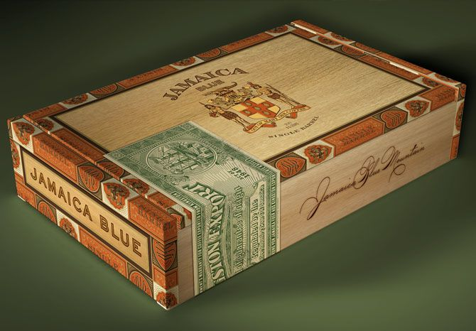 Cigar box.: Package Design, Jamaica Blue, Packaging Design, Cigars, Coffee Packaging, Cigar Boxes, Blue Mountain, Blue Premium