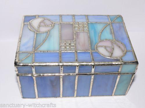 Beautiful Rennie Macintosh  Glass Mosaic Jewellery Box.