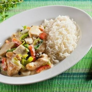 Chicken with vegetables and rice. Recipes with photos.