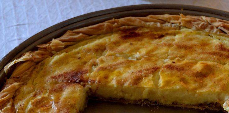 Greek honey milk pie
