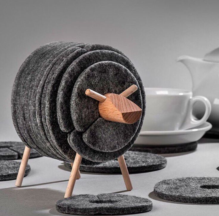 """db - design bunker on Instagram: """"Sheep felt coasters set by Welldone Dobre Rzeczy! Head over to @designbunker for more like this! #coaster #drink #drinking #drinks #drinker…"""""""