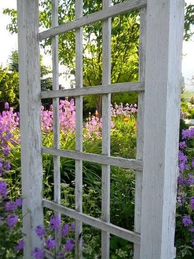 Garden window - another idea for prayer garden