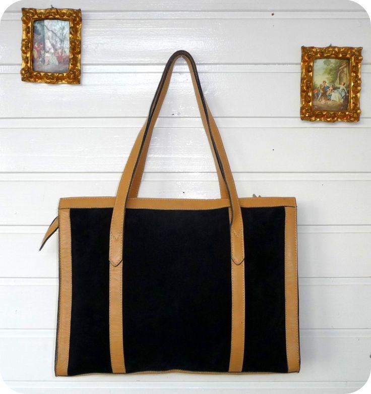 VINTAGE LEDER 70er Tasche Handtasche Bag Leather Shopper Boho Schultertasche UNI in Kleidung & Accessoires, Damentaschen | eBay