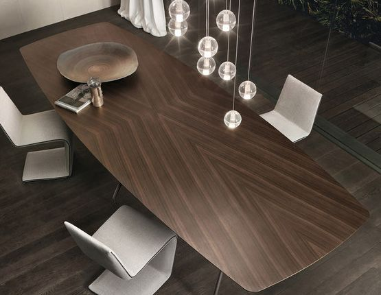 A Wood And Metal Modern Dining Table For Contemporary Dining Rooms. Simple  Yet So Very