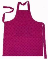 A pretty apron made out of bright, funky material to brighten up your kitchen. Finished with a handy pocket sewn on the front, this lovely apron is an ideal gift for those that love to cook.