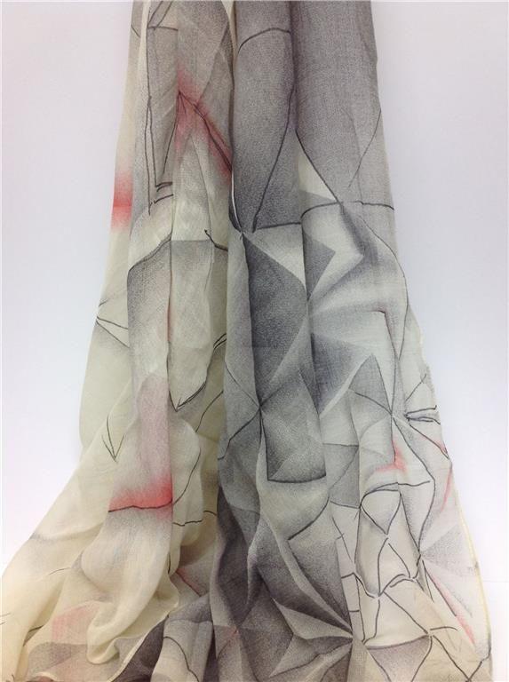 Annons på Tradera: Underbar scarf schal sjal i bommul och ull