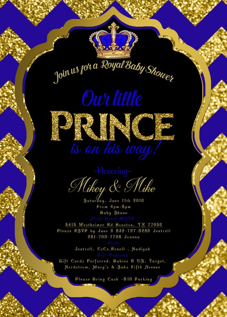 magnets baby fcef invitations royal shower little gorgeous invitation prince on show