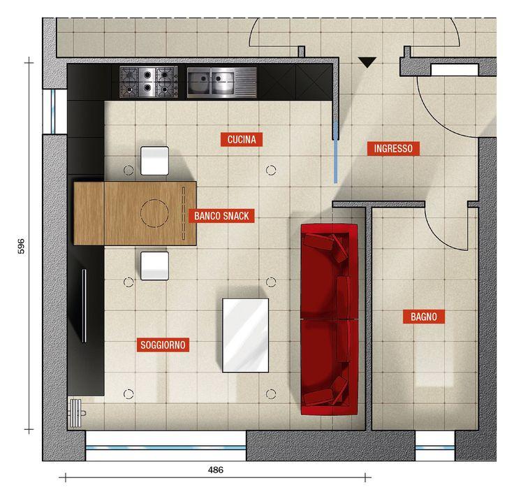 La scelta tra una cucina a vista sul soggiorno, separata o ...