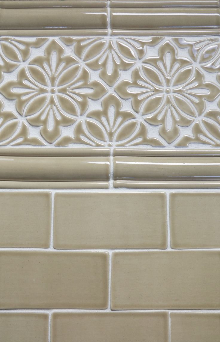 71 best custom handmade tile images on pinterest beautiful a tile border is a great way to make a small bathroom appear bigger seen dailygadgetfo Choice Image