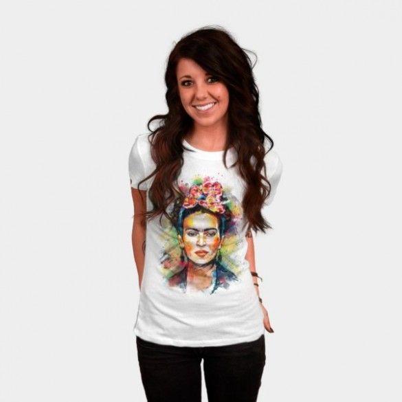 Frida Kahlo T-shirt Design by tracieandrews - fancy-tshirts.com