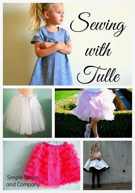 Sewing with Tulle Tutorials   Simple Simon and Company/  Here's the link:  http://www.simplesimonandco.com/2014/03/satin-and-tulle-skirt-tutorial.html