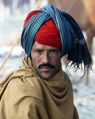 Pushkar, India - Portrait of a Horse Trader (by asiatranspacific)