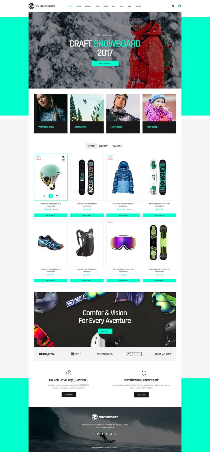 Snowboard - Ski Equipment WooCommerce WordPress Theme #skateboards #ski equipments #snowboards to mountain bikes • Download ➝ https://themeforest.net/item/snowboard-ski-equipment-woocommerce-wordpress-theme/20131301?ref=pxcr
