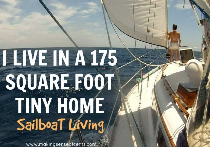I Live in a 175 Square Foot Tiny Home. Could you live in a sailboat? Read today about someone who lives in a sailboat and is living the dream! #sailboat #sailboatliving