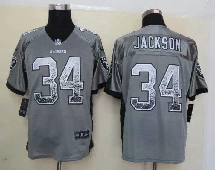low priced 22977 cb169 nike oakland raiders 34 bo jackson 2013 drift fashion gray ...