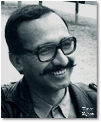 """Tahar Djaout Solstice barbelé (poèmes 1973-1974),   L'Arche à vau-l'eau (poèmes 1971-1973)  Insulaire & Cie (poèmes 1975-1979) L'Oiseau minéral (poèmes 1979-1981) L'Étreinte du sablier (poèmes 1975-1982)    Pérennes (poèmes 1975-1993), précédé de """"Pour saluer Tahar Djaout"""" par Jacques Gaucheron, couverture et encres de Hamid Tibouchi, """"Europe/Poésie, Le Temps des Cerises"""", Paris96 (ISBN 2841090566)."""