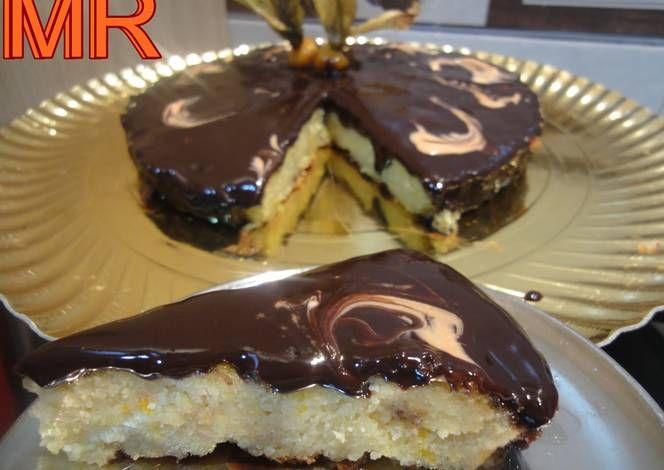 Tarta de almendra a la naranja con ganache de chocolate