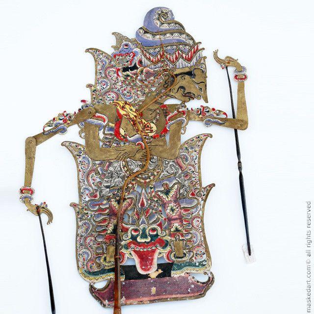 Bathara Guru Supreme God of the Hindu Pantheon, Wayang Kulit, Leather, Surakarta Central Java